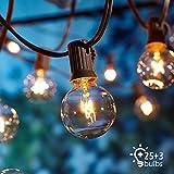 Guirnaldas luminosas de exterior,[Versión actualizada] OxyLED G40 25ft Luces de...