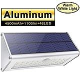 Luces de pared solar de seguridad al aire libre, Licwshi 1100lm 46 LED 4500mAh...