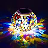Solar Powered luces Bola de cristal en mosaico de jardín, Avril Tian cambia de...