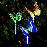 Flower205 Mariposa solar ciclo de color de la luz LED luz de mariposa paisaje...