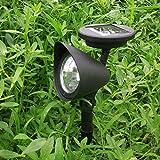 Solar 3 LED Garden Lamp Spot Light Party Path Spotlight Outdoor Lawn Landscape