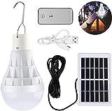 Lámpara Solar Portátil Bombilla de LED Solar Portatil, TechKen Luz Solar para...