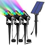 T-SUN led proyector Solar Exterior, Foco Solar led para Exterior, 6 Colores...