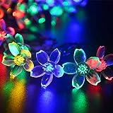 lederTEK Solares Luces de Hadas de Cuerda 6.5m 50 LED Multicolor Flor...