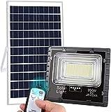Luz Solar Exterior Mando a Distancia 200W, Foco Solar LED Luz Blanco Neutro...