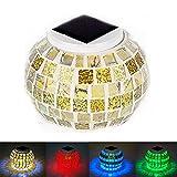 Lámpara solar Yaeaom de mesa con mosaico de cristal