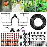 Sistema de riego Jardín, Kit de riego por goteo micro Riego automático...