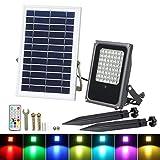 Luces Solares de Inundación de 56 LED, T-SUN Foco Solar Exterior con Mando a...