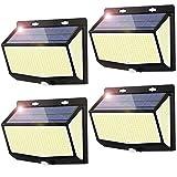 Luz Solar Exterior 468 LED Luces LED Solares Exteriores con Sensor de Movimiento...