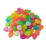 200 piezas coloridas piedras Glow Guijarros, bricolaje piedras de grava...