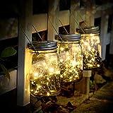 SUNNOW Luz Solar Jardín - Juego de 3 Lámparas Solares, 30 Luces LED de Hadas,...
