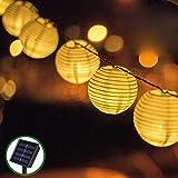 Guirnaldas de Luces Solar Jardín LED Bawoo 30 LED Guirnaldas Luces Exterior...