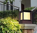 Lámparas de columna solar al aire libre patio Lámparas de poste Lámparas de...