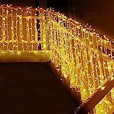 MOVEONSTEP Guirnaldas de Luces 300 LED 33m Guirnalda Luminosa Blanco Cálido 8...