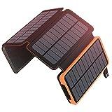 A ADDTOP Cargador Solar 25000mAh Power Bank Portátil con 2 Ports 2.1A Output...