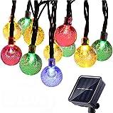 NEXVIN Guirnalda Luces Exterior Solar, Luces Navidad Colores con 50 LED Bola...