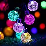 Luces Navidad Exterior, ECOWHO Solar Luces Arbol de Navidad Colores
