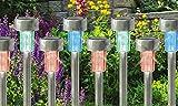10 x vanz shop cambia de color reloj SOLAR de acero inoxidable de jardín luces...
