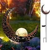 Moon Luces Jardín - Farolas Solares Exterior luz Solar Jardin IP65 para Jardín...