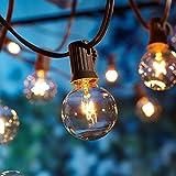 9 Metros Guirnaldas luminosas de exterior,[Versión actualizada] G40 Luces de la...