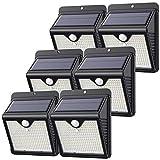 【6 Paquete】150 LED Luz Solar Exterior, Feob Súper Brillante Foco Solar...