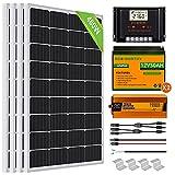 ECO-WORTHY 2kW·h/día Kit Panel Solar con Inversor y Batería 480W 24V Fuera de...