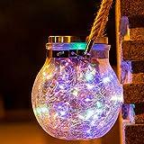 Faroles solares de jardín con lámpara LED para colgar, IP65, impermeable,...