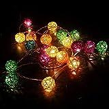 TurnRaise 4.8 Metros 20 Leds Guirnaldas de luz Iluminación Cadena de Luces...