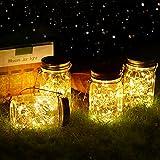 Vindany lámparas Solares Exterior - Juego de 4 Luz Solar Jardín Luces de...