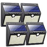 Luz Solar Exterior, Pxwaxpy [97LED 4 Packs] Foco Solar Exterior con Sensor de...