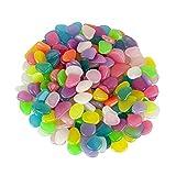 Alexen 200 Piezas de Colores Brillantes guijarros del jardín, Brillan en la...