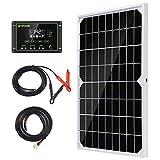 Kit de panel solar monocristalino TP Solar Solar T05M10C10W-1 con cargador solar...