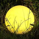 Albrillo RGB Luz Solar de Jardín - Iluminación Exterior LED de Globo de 30cm,...