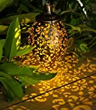 Luces solares colgantes al aire libre – Faroles solares de jardín al aire...