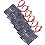 GTIWUNG 6 Piezas 3V 0.3W 65 X 48mm Micro Mini Células de Panel Solar, Mini...