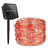 [2021 New] Guirnalda Luces Exterior Solar, ORIA Cadena de Luces con 8 Modos de...