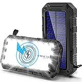 Cargador Solar Movil 26800mAh, [QI Carga Inalambrica] Bateria Externa Movil,...