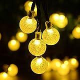 Kaiercat® al aire libre luces solares de cadena, luces de globo impermeable...