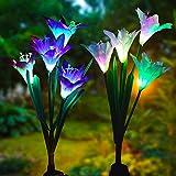 YiGo luces solares para jardín al aire libre, lirio