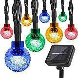 Correare - Cadena de luces solares para exteriores, 100 LED de 9,5 m, 8 modos,...