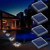 Luces Solares Jardin, Lámpara Solar Exterior IP68 Impermeable Auto ON/OFF Luz...