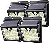 Kilponen Luz Solar Exterior, 【Versión Innovadora 4-Paquete 250 LED 1500...