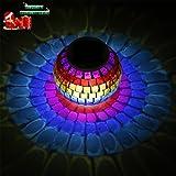 niceao funciona con energía solar mosaico cristal lámpara de luz de cristal...