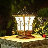 WRMING Lámpara de Sobremuro Exteriores Solar, lámpara Solar Exterior Aluminio...