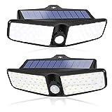 Luces solares, XZN luces solares exterior, lámpara exterior con detector de...