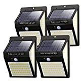 Litogo Luz Solar Exterior 140 LED【4 Pack / 3 Modos】con Sensor de Movimiento,...