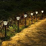 Lámpara Solares para Jardín, Tomshine Luces Solares Jardín, 6 piezas Luz...