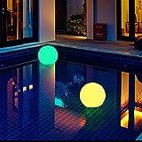 Cutowin - Lámpara de Bola LED de energía Solar con luz RGB Recargable para...