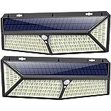 Kilponen Luz Solar Exterior【430 LED Con Carga USB】Foco Solar Exterior 270º...