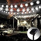 Guirnalda de luces solares para exteriores, Mr. Twinklelight®, 5,7 m, 42 luces...